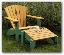 Adirondack Chair & Footstool Woodworking Plan