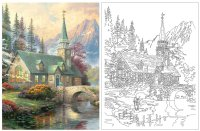 Larger View: Thomas Kinkade Coloring Book Image 3