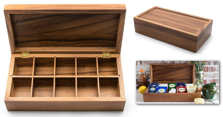 wooden tea boxes gourmet tea chest. Black Bedroom Furniture Sets. Home Design Ideas