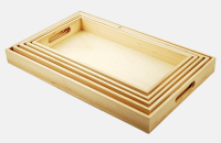 5-Piece Paintable Wooden Trays