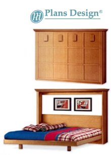 Horizontal Queen Size Wall Bed Frame Plans