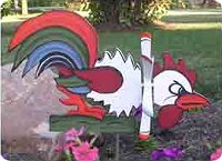 Fighting Rooster Whirligig Plans