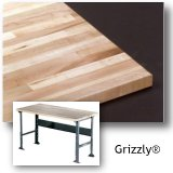 Grizzly Solid Maple Workbench Tops
