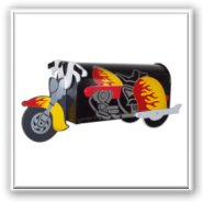 Motorcycle Novelty Mailbox