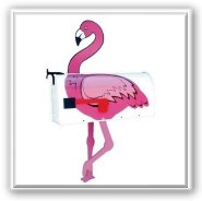 Pink Flamingo Novelty Mailbox