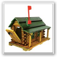 Rivers Edge Log Cabin Novelty Mailbox