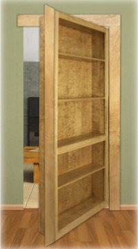 Invisidoor Bookcase Shelving Unit