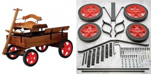 Buckboard Project Wagon Hardware Kit & Plan