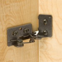 Snap Closing Semi-Concealed Hinges