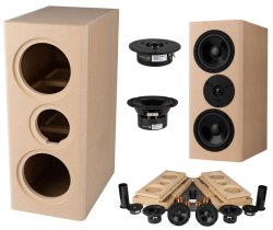 Tritrix MTM Speaker Kit Pair with Knock-Down Cabinets