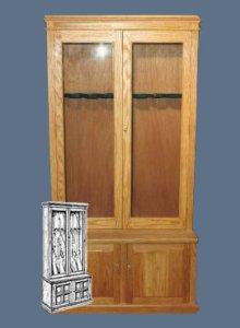 free gun cabinet woodworking plans