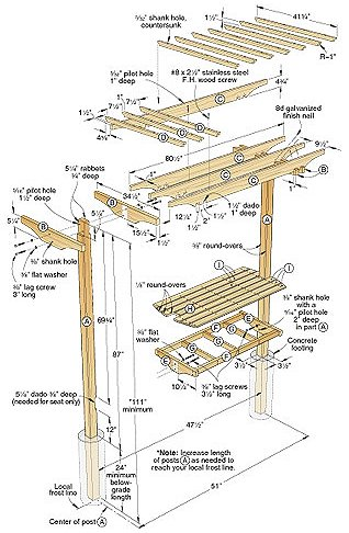 Garden Bench/Trellis Woodworking Plan