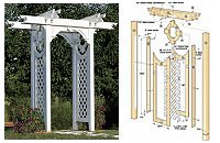 Trellised Arbor Woodworking Plan