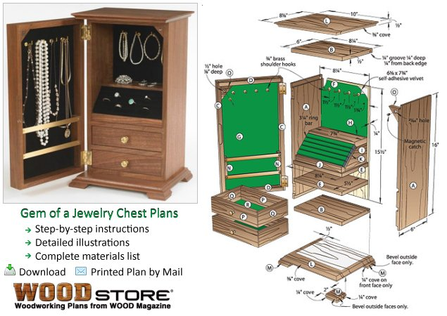 Plans to Build A Gem of a Jewelry Chest