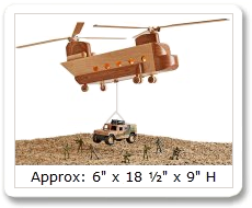 Mil-spec CH-47 Chinook Helicopter