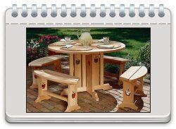 Apple Patio Table and Benches