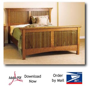 Arts and Crafts Bed Woodworking Plans