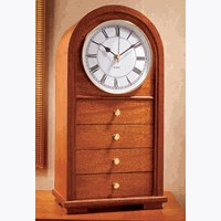 Arched-Top Clock With Drawers